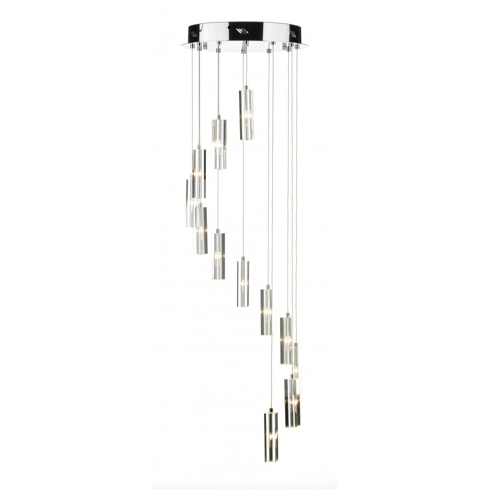 Long drop crystal spiral pendant for Pendant lighting for high ceilings