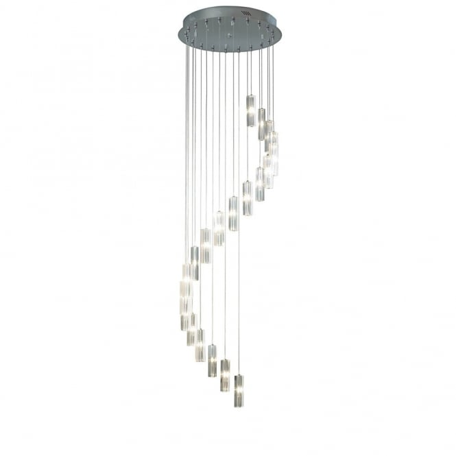 The Lighting Book GALILEO large long drop 20 light crystal spiral pendant