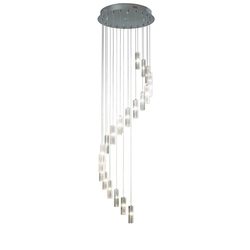 Galileo Large Long Drop Crystal Spiral Pendant Light