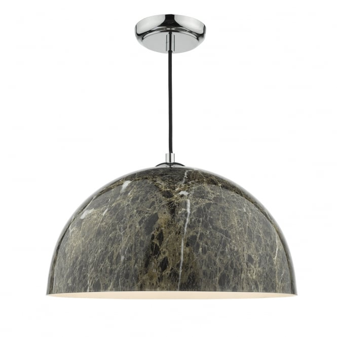 The Lighting Book GANACHE dark brown marble effect ceiling pendant