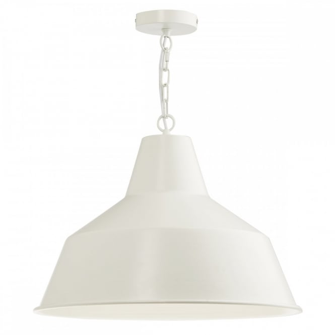 The Lighting Book GIANT matt ivory metal ceiling pendant