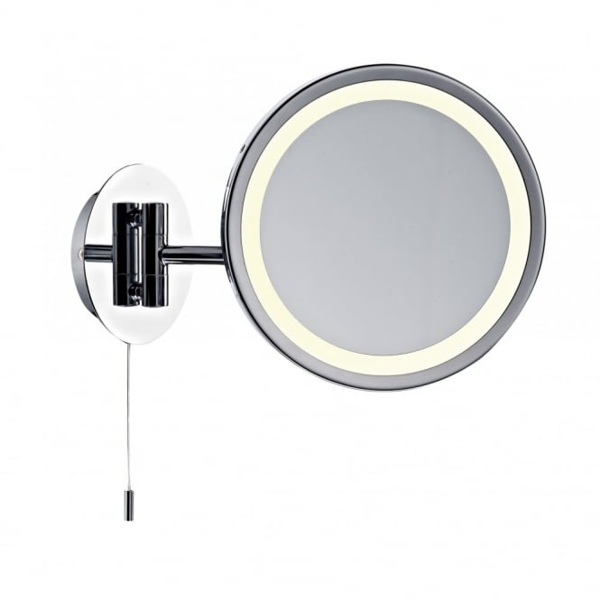 modern illuminated bathroom mirror with pull switch. Black Bedroom Furniture Sets. Home Design Ideas
