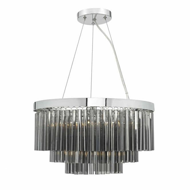 The Lighting Book GIOVANA decorative 5 light glass and chrome ceiling pendant