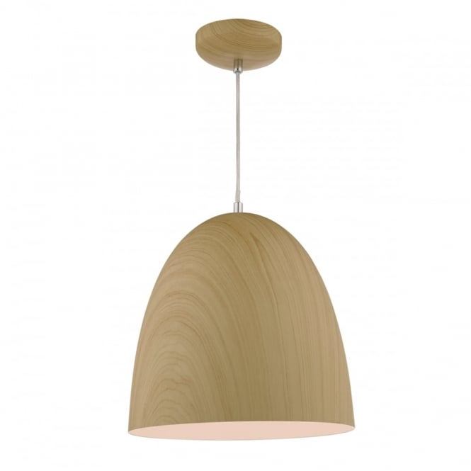 The Lighting Book GLYN pale wood effect ceiling pendant