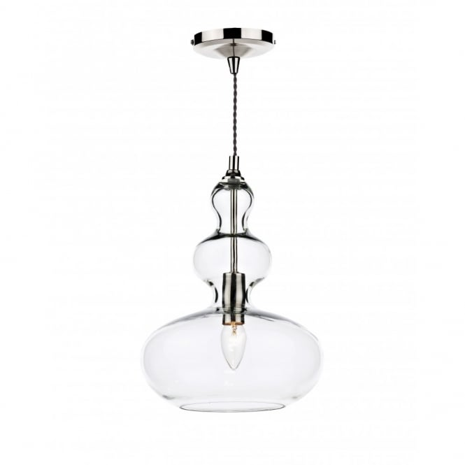 The Lighting Book GOA clear glass long drop ceiling pendant