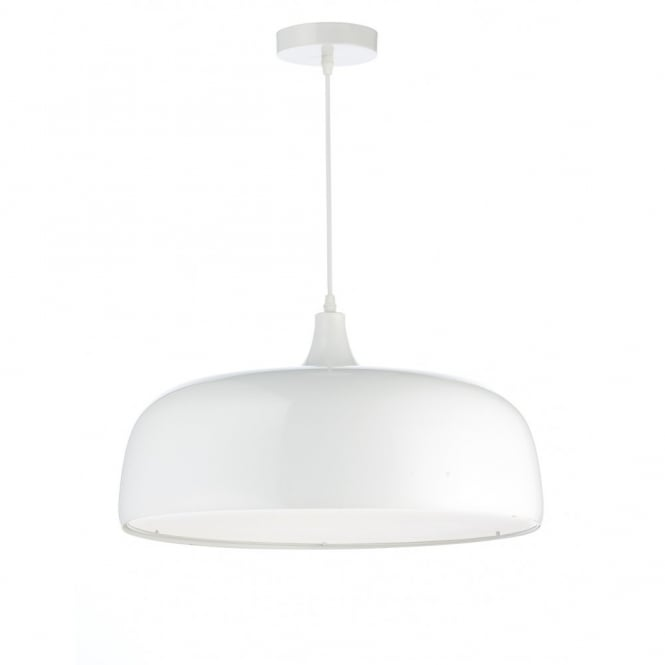 The Lighting Book GOWER 2 light white ceiling pendant