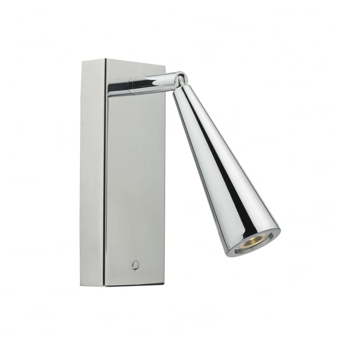 The Lighting Book HAGEN polished chrome LED wall light