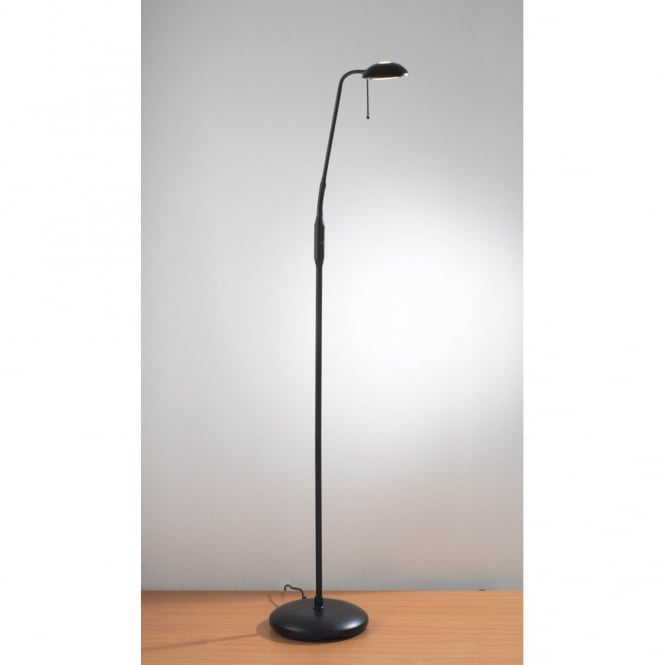 Black Floor Standing Lamp For Reading And Craft Work