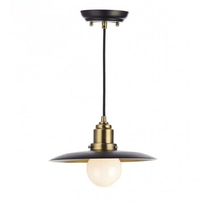 The Lighting Book HANNOVER rustic black & antique brass ceiling pendant