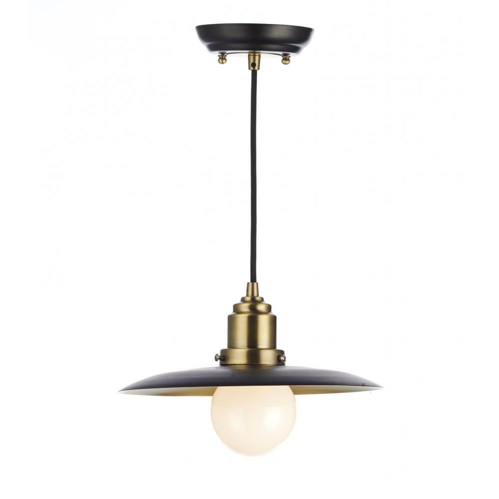 Rustic Black Amp Antique Brass Ceiling Pendant