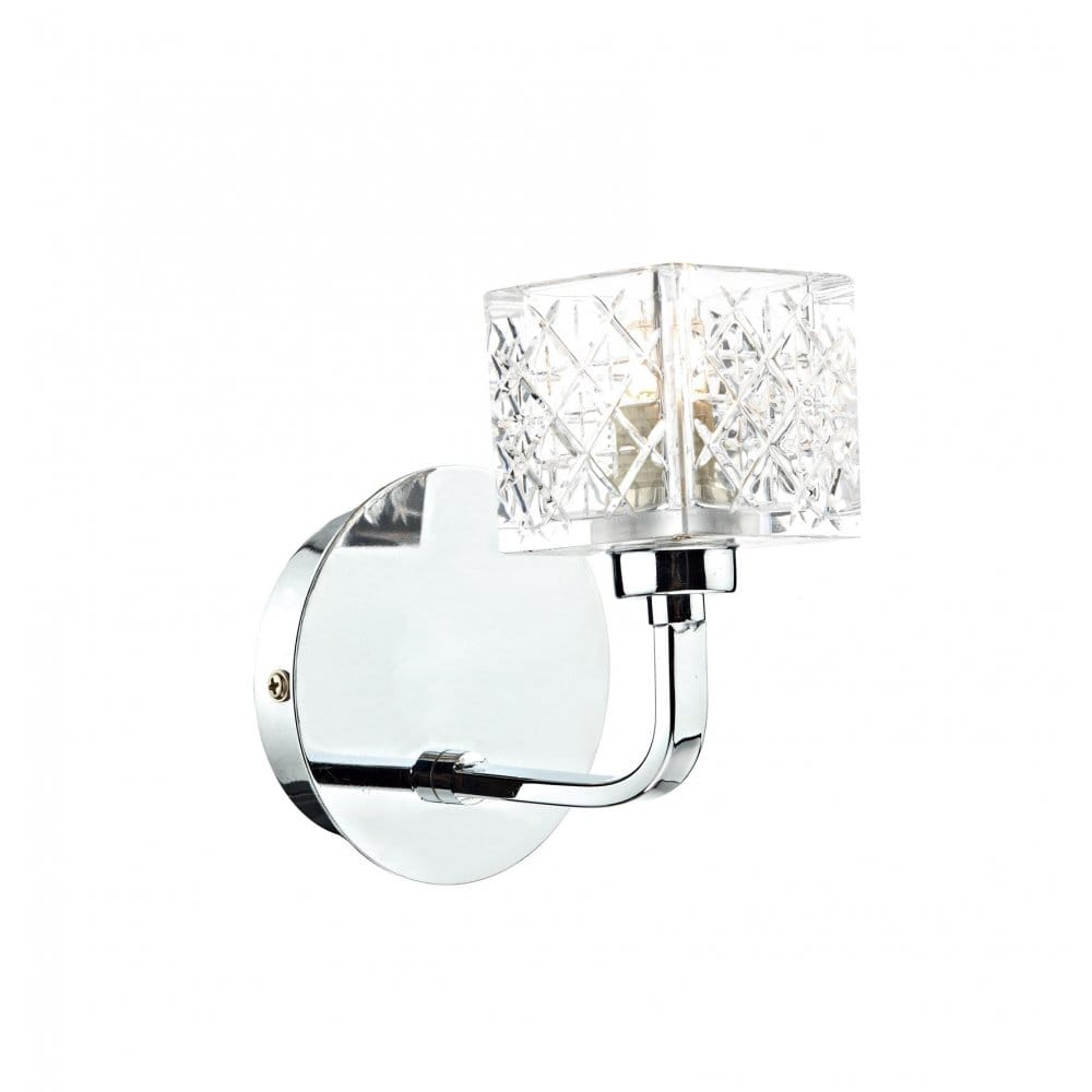 Wall Lights Matching Ceiling Lights : Modern Chrome and Crystal Wall Light with Matching Ceiling Lights