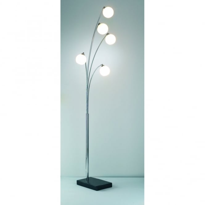 Great The Lighting Book HIGHGATE Modern Chrome 5 Light Floor Standing Lamp Part 14