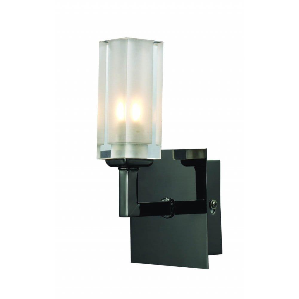 Modern Wall Lights Chrome : Modern Black Chrome crystal wall lights and buy matching ceiling lights.