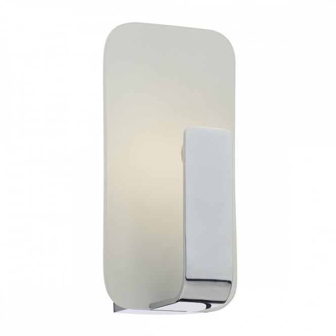 The Lighting Book HOCK modern polished chrome and glass LED wall light