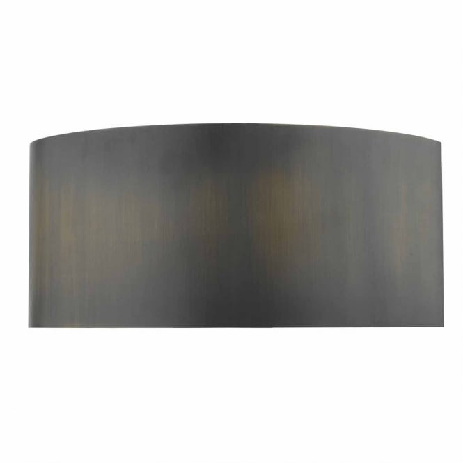HUBERT aged bronze wall washer with diffuser