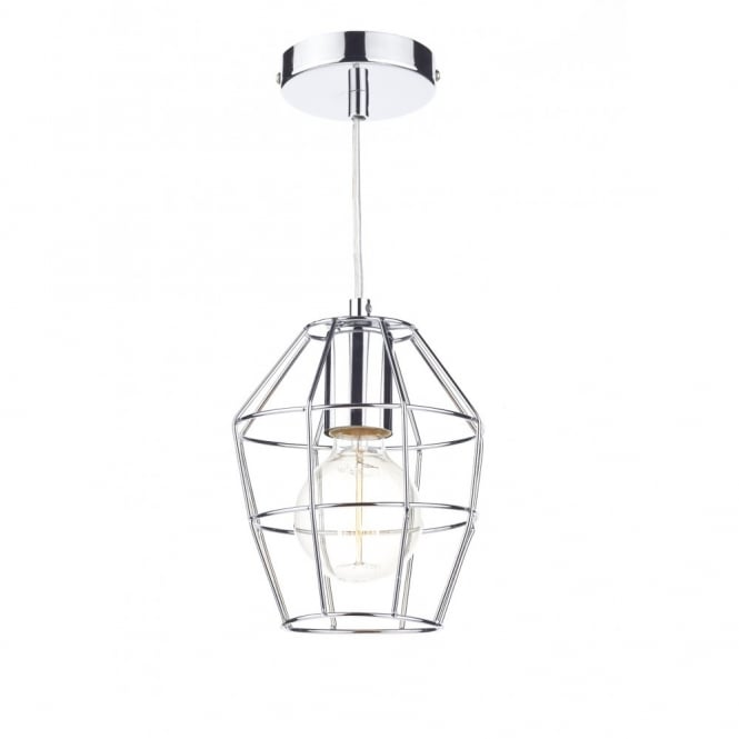 The Lighting Book HUTCH polished chrome metal frame ceiling pendant