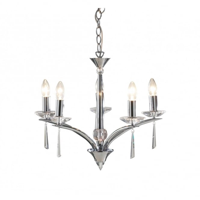 The Lighting Book HYPERION chrome crystal ceiling light