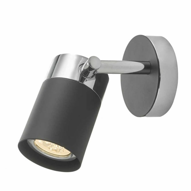 IBSEN single wall spotlight in black and chrome