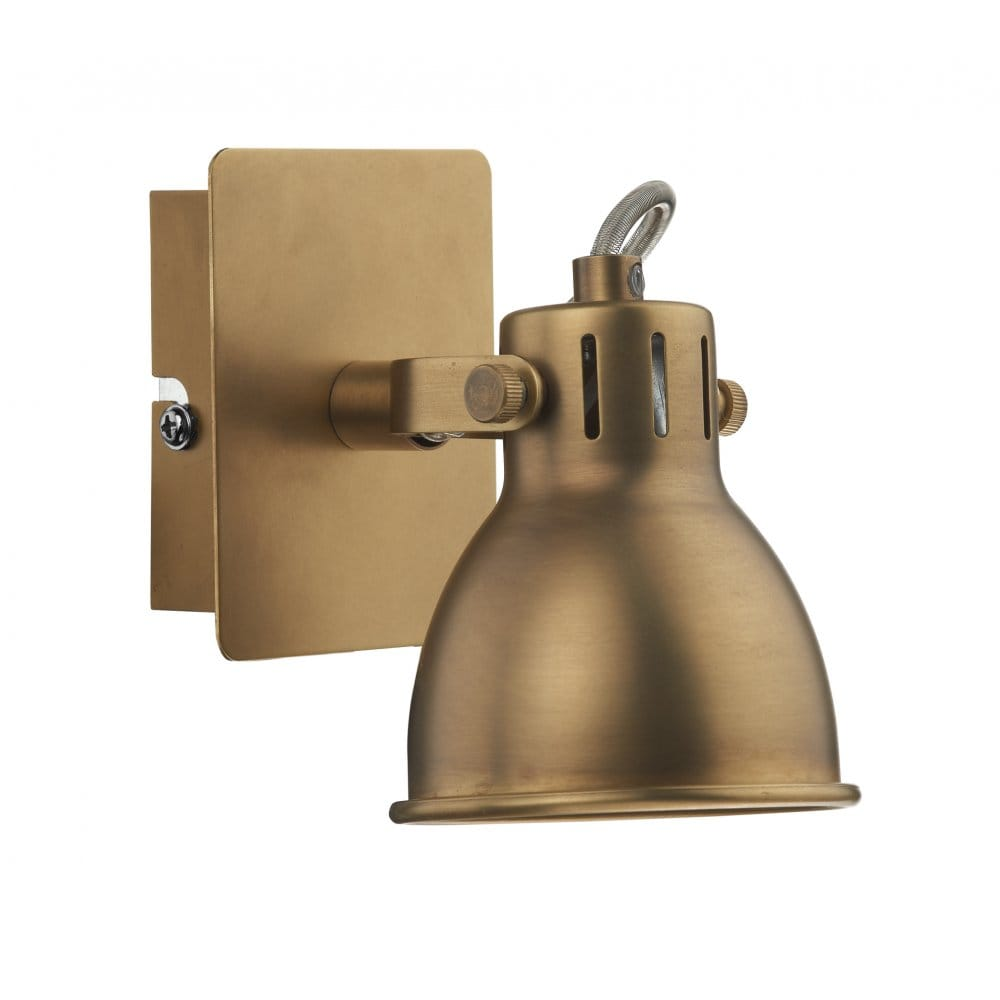 Wall Light Double Spotlight : Brass Double Insulated Spotlighting. Idaho Retro Style Wall Spotlight.