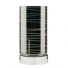 decorative glass touch lamp with chrome base