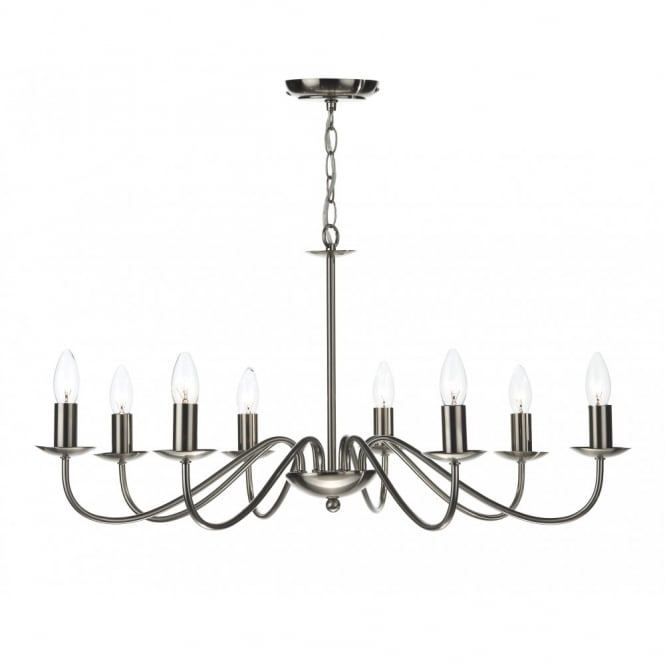 The Lighting Book IRWIN dual mount satin chrome ceiling pendant 8lt