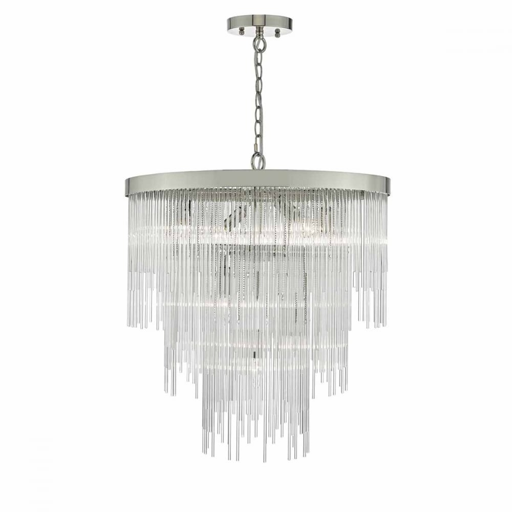 Modern chandeliers or crystal chandeliers traditional large or small decorative glass rod and polished chrome ceiling pendant mozeypictures Image collections