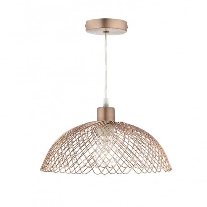 The Lighting Book ISOBEL modern copper frame non electric pendant shade