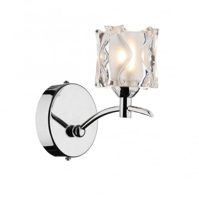 The Lighting Book JACOB double insulated chrome wall light