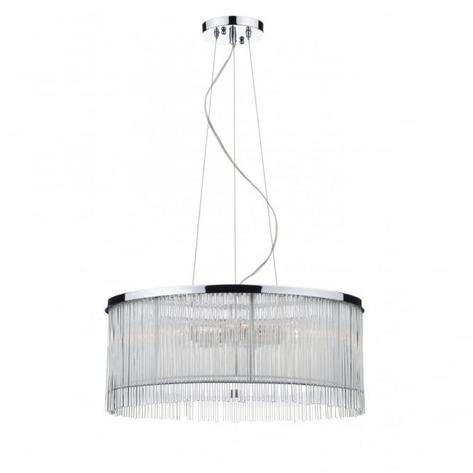 The Lighting Book JAPAN white, chrome & clear glass ceiling pendant (3 light)