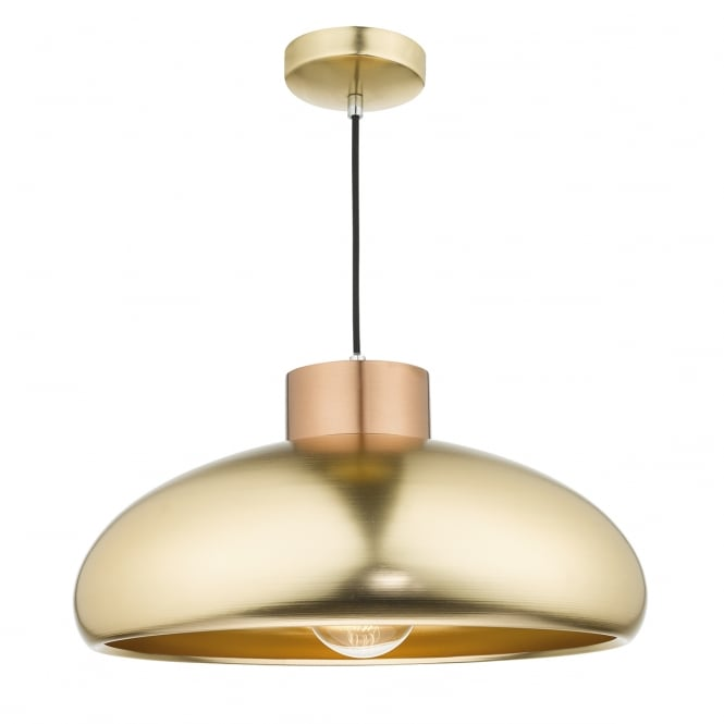 The Lighting Book JAYSON brushed copper and satin brass ceiling pendant