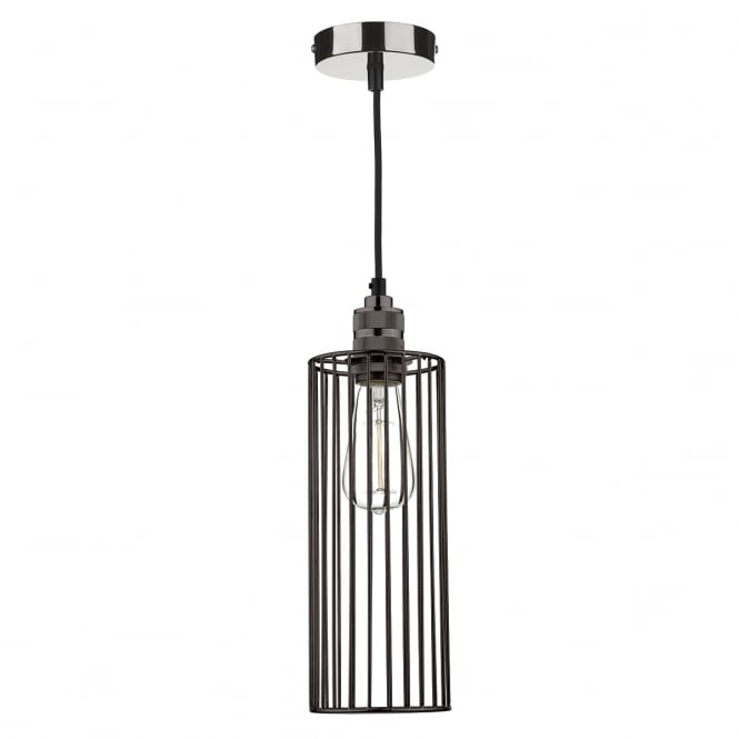 The Lighting Book JEB black chrome cage ceiling pendant