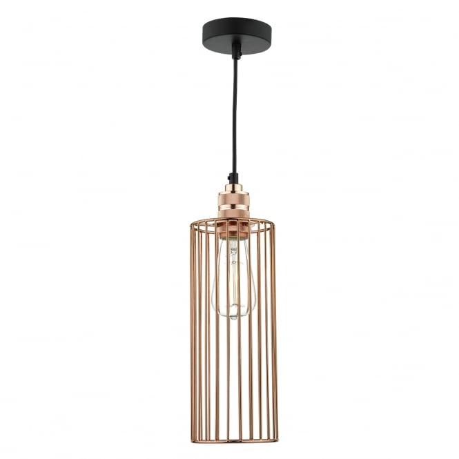 The Lighting Book JEB bright copper cage ceiling pendant