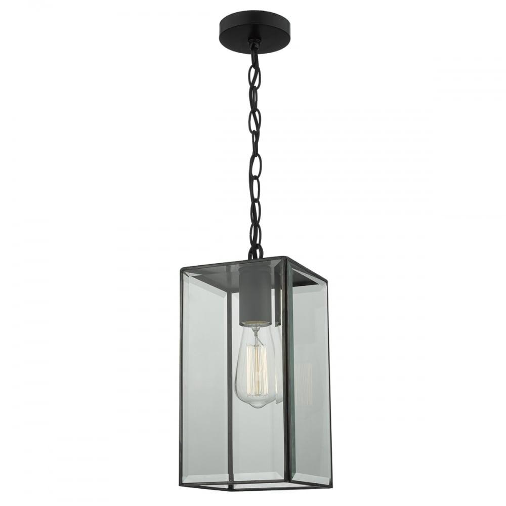 Ceiling Light No Box : Industrial black box lantern ceiling pendant light