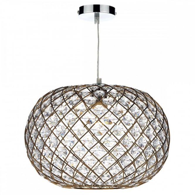 The Lighting Book JUANITA decorative gold non electric ceiling pendant shade