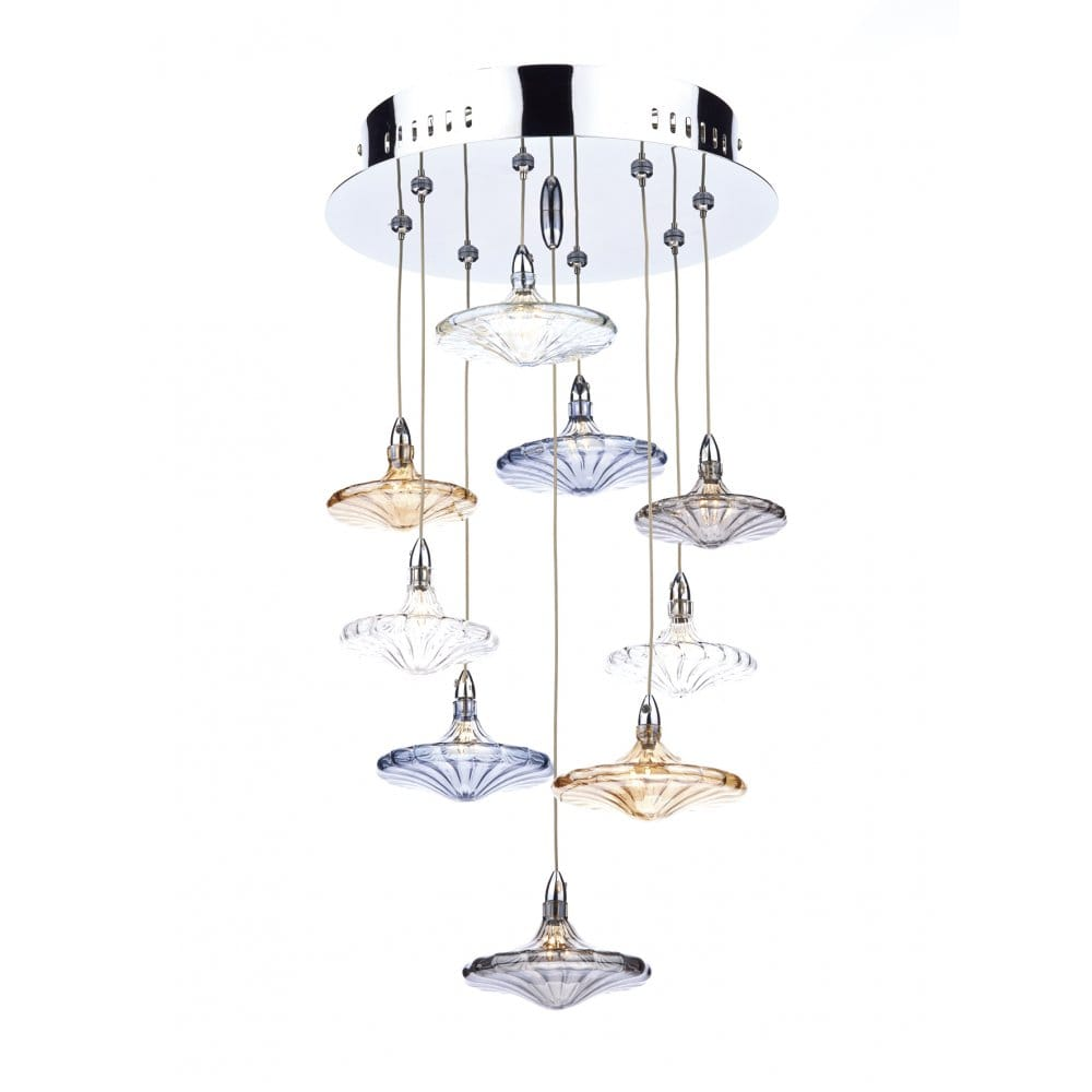 decorative modern cluster ceiling pendant with coloured