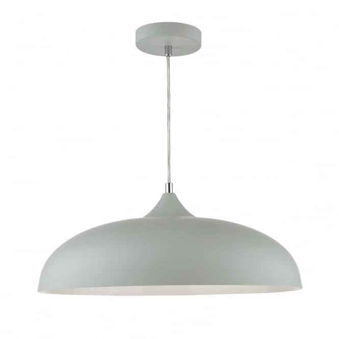 The Lighting Book KAELAN single light grey ceiling pendant