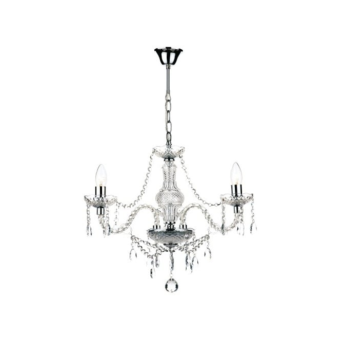 The Lighting Book KATIE double insulated 3 light chandelier