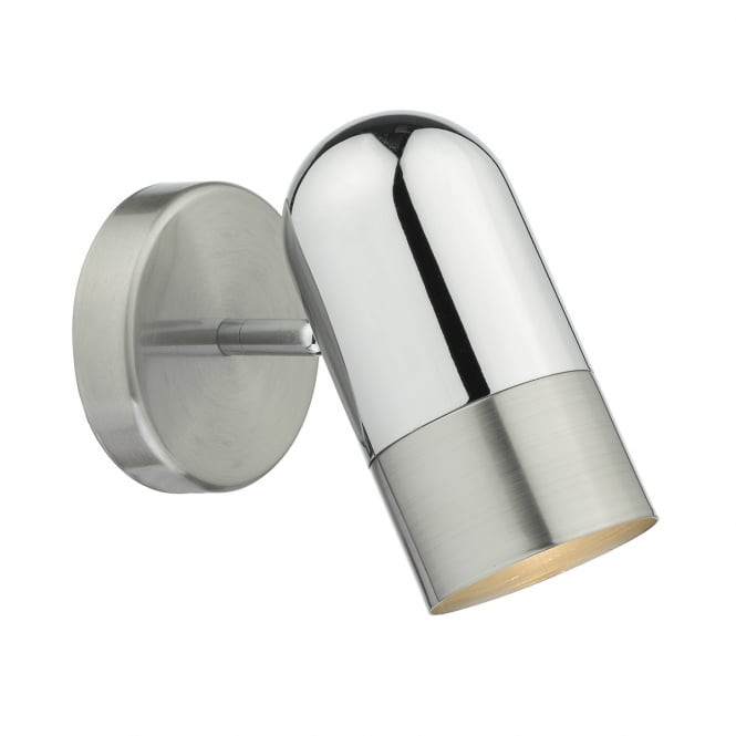 KAZAN single polished and satin chrome wall light