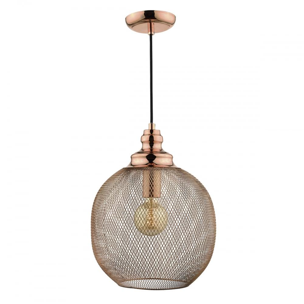 Decorative Woven Copper Sphere Ceiling Pendant Light