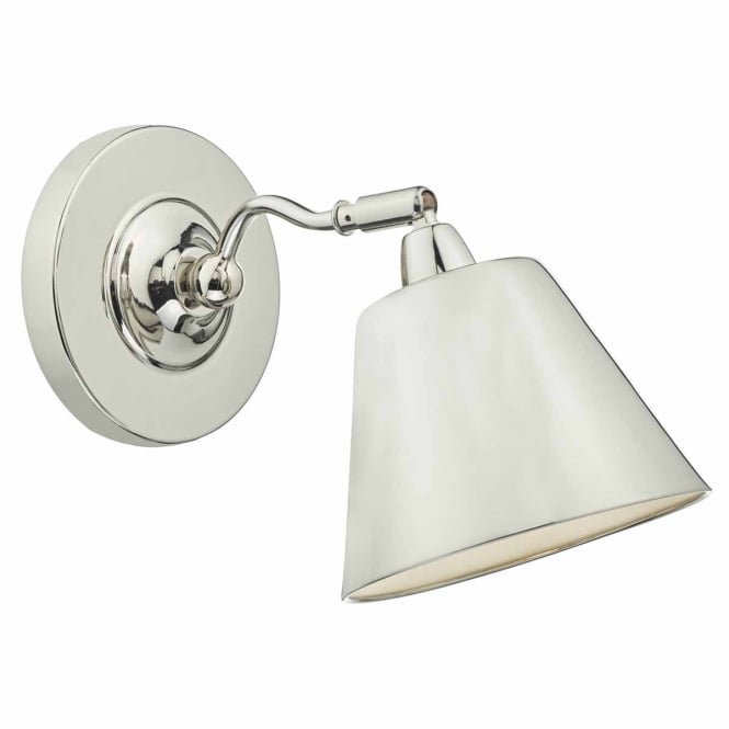 The Lighting Book KEMPTON polished nickel wall light
