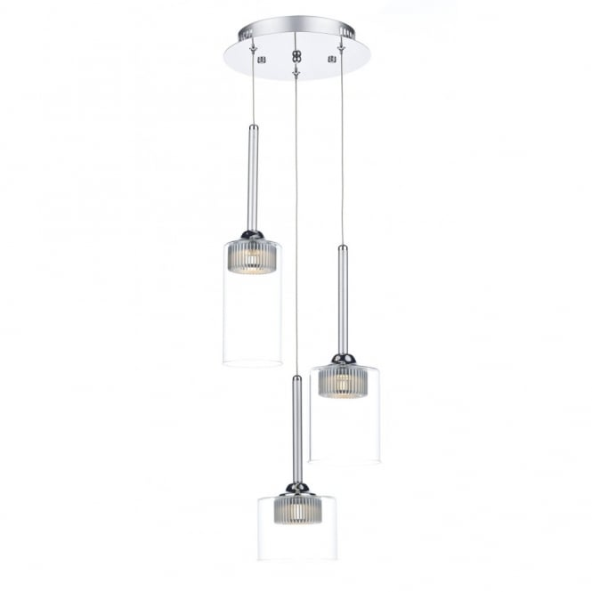 Contemporary 3 Light LED Ceiling Cluster Pendant