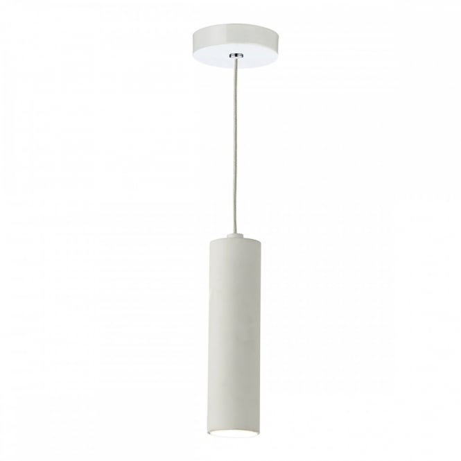 The Lighting Book KIT LED tubular ceiling pendant in matt white