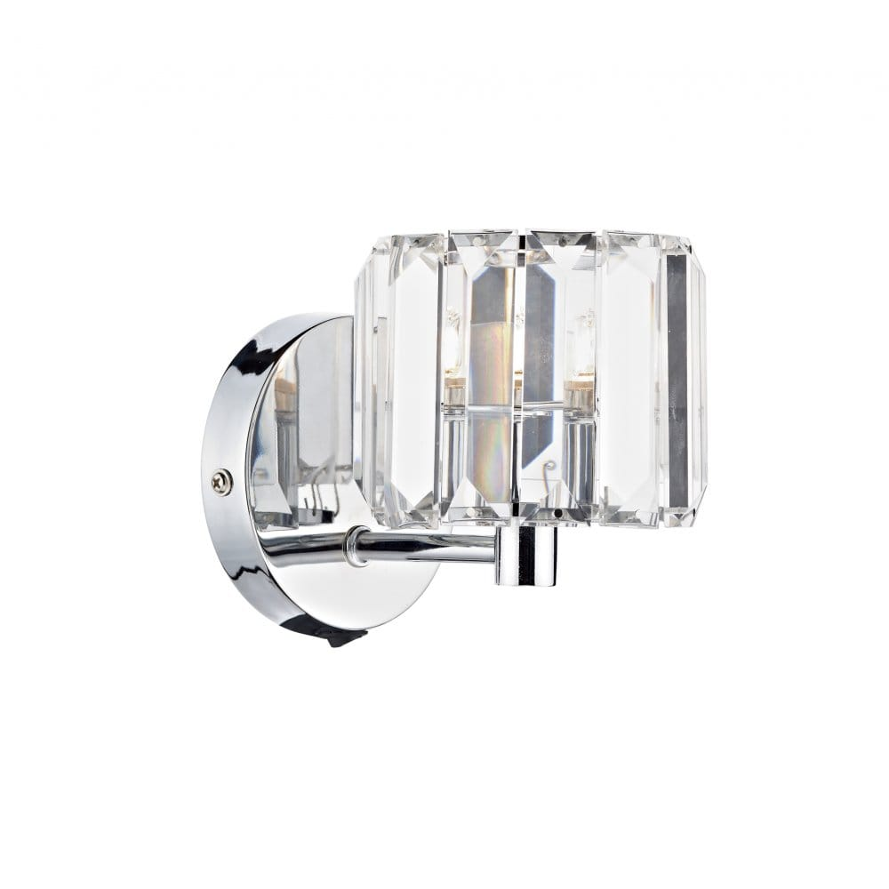 Single Chrome Wall Lights : Modern Chrome Wall Light, Individually Switched.