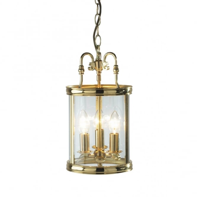 The Lighting Book LAMBETH traditional brass gold hall ceiling lantern