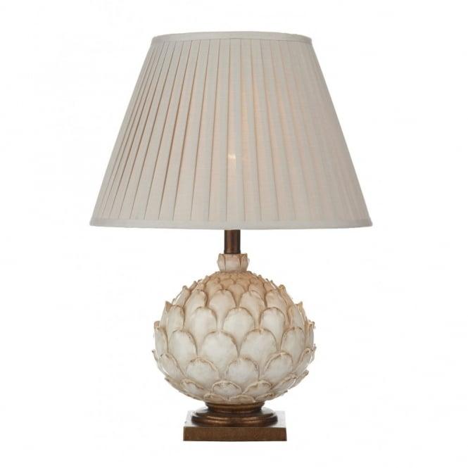 Cream Table Lamp In Artichoke Design Double Insulated