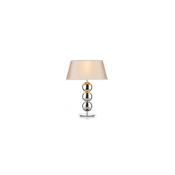Lexington modern table lamp with chrome discs and cream shade for Lexington floor lamp chrome
