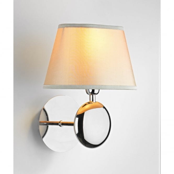 The Lighting Book LEXINGTON modern chrome wall light cream shade