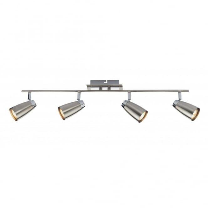 The Lighting Book LOFT 4lt ceiling spot light bar, satin chrome finish