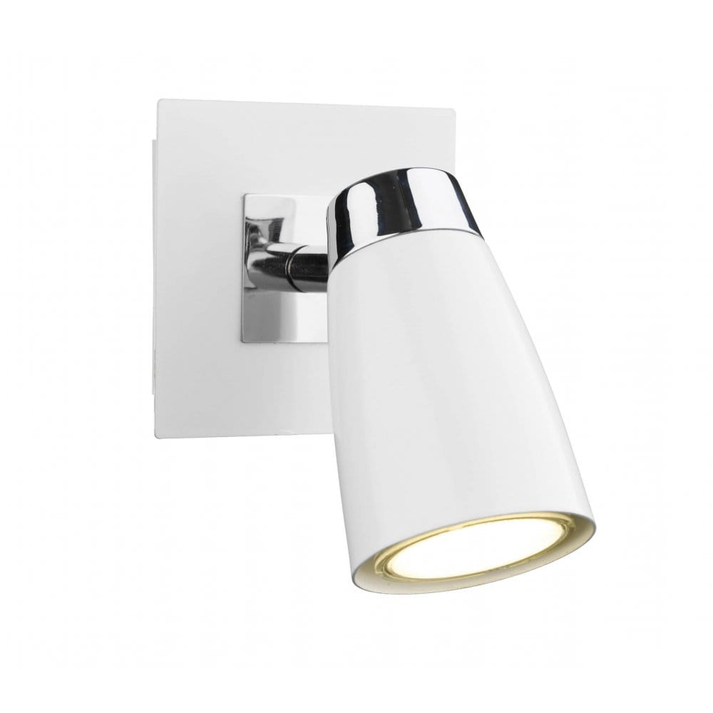 Wall Light Double Spotlight : White Spot Light, Double Insulated and Ideal for Modern Settings.