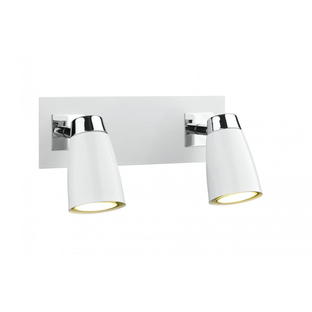 Wall Light Double Spotlight : Double Insulated twin spot light